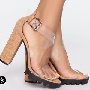 Fashion nova heeled sandals.